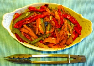 Rambling Down Ridley Road column Friday 260413:  Bell pepper salad