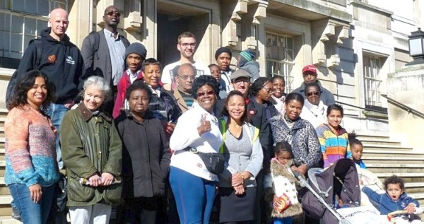 Black History Month walk at Hackney Town Hall (2012?) © david.altheer@gmail.com
