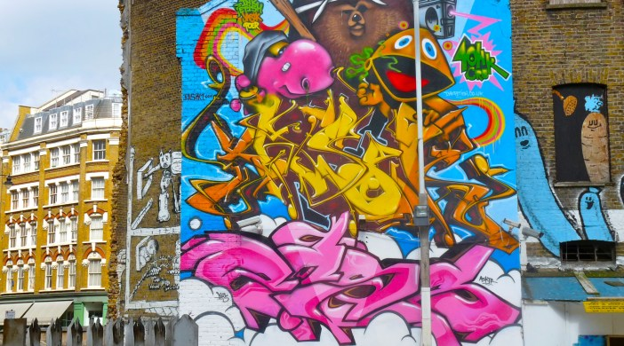 Graffiti photographed at the eastern end of Leonard Street Shoreditch London by Loving Dalston last year, 2013 © david.altheer@gmail.com
