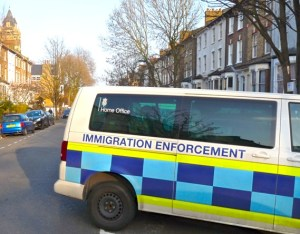 HomeOffVan Home Office Immigration Enforcement van in Colvestone Cres Hackney London E8 110314 © david.altheer@gmail.com