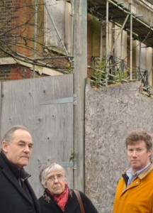 Hackney Liberal Democrats Tony Harms, left, Sylvia Anderson and Simon de Deney (supplied)
