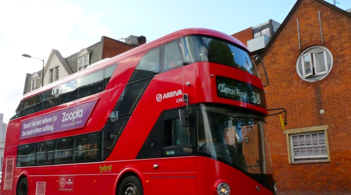 "Borisbus: Thos Heatherwick ""new RMT"" designed hop-on, hop-off bus @ Dalston Junction London E8 090513 © david.altheer@gmail.com"