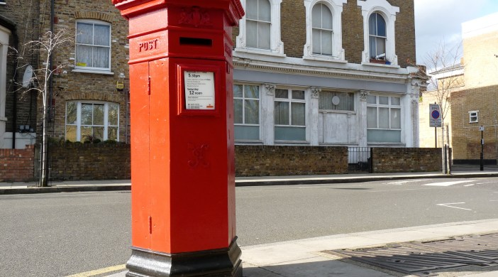 VR postbox Nevill Rd Stoke Newington London N16 240214 © david.altheer@gmail.com