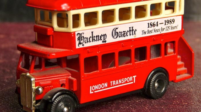 RMT Routemaster bus Lledo model for Hackney Gazette © ∂å