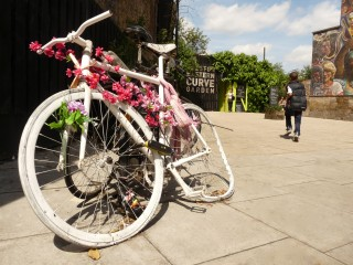 GHOSTBIKE: Eastern Curve Gdn Dalston Ln Lon E8 June 2013 © david.altheer@gmail.com