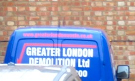 Demolition-firm van @ rear of Dalston Ln London E8 demolition by Murphy 060115 © DavidAltheer@gmail.com