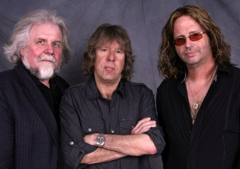 Keith Emerson, centre, with collaborators Terje Mikkelsen, left, and Marc Bonilla (supplied publicity pic)