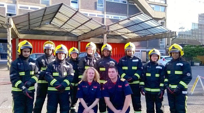Hackney fire cadets (London Fire Brigade-supplied)