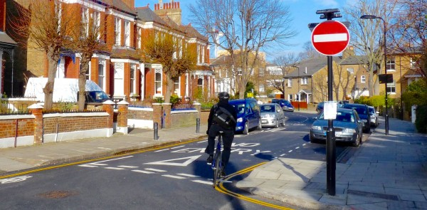 cycleway: New cycleway in Parkholme Road, Dalston E8 3AG