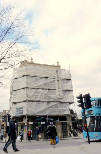 Under wraps: a handsome Dalston building has emerged