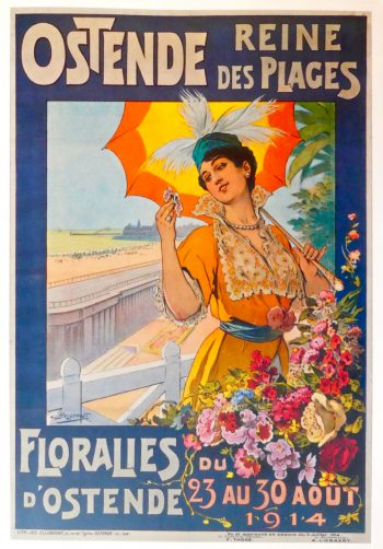 "Ostend: poster advertising the ""Queen of Beaches"". Owned by Jean Field © DavidAltheer [at] gmail.com"