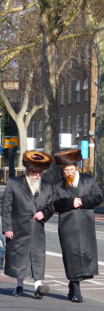 Orthodox12: (Haredi?) Jews on the wide pavements of Stamford Hill London N16 250214 © david.altheer@gmail.com