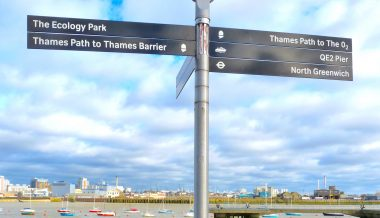 Sign near Millennium Dome on Greenwich Peninsula 090214 © david.altheer@gmail.com