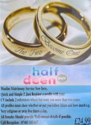 Muslim matrimony-service ad @ Shacklewell Lane Mosque Dalston HackneyE8 260415 © DavidAltheer@gmail.com