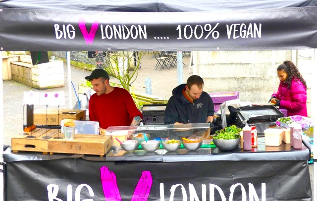veganfair©DA18: Big V London stall at Hackney Downs vegan fair #Dalston #London © david.altheer@gmali,com 240318