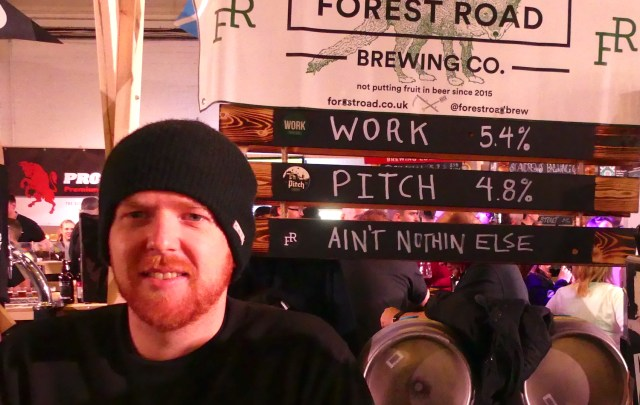 BEERForestRd©DA17: Rudder Jenkins/Forest Road Brewing Co. at Craft Beer Rising, Truman's Brewery 240217 © david.altheer[a t] gmail.com