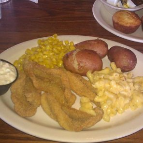Cracker Barrel Farm-Raised Catfish Platter