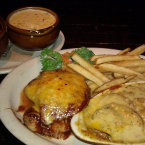 Hickory-Grilled Chicken at barbecue restaurant