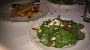 Spinach Salad, Proscuitto Wrapped Mozzarella at Capital Grille