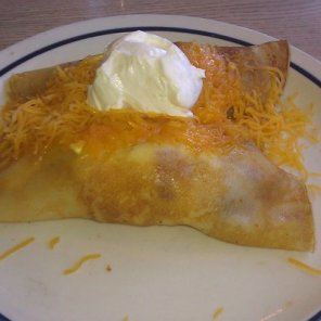 IHOP Bacon & Cheddar Stuffed Crepes