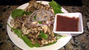 The Melting Pot Spinach Mushroom Salad
