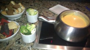 The Melting Pot Cheddar Cheese Fondue