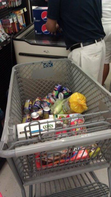 Basket in Express Checkout Lane