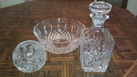 Crystal glass wares from Strawberry Festival