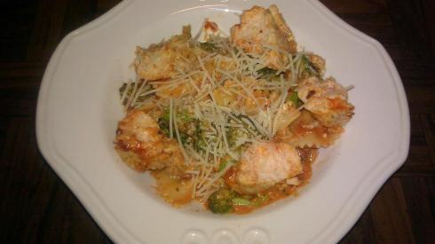 Creamy Bow Tie Pasta with Chicken & Broccoli