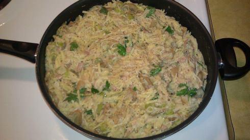 Creamy Tuna & Mushroom Linguine