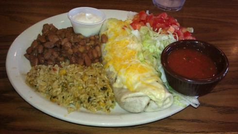 Burrito Platter at the diner