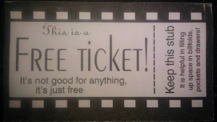 Free Ticket joke