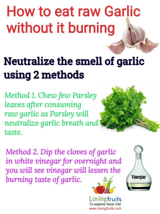 get rid of garlic breath