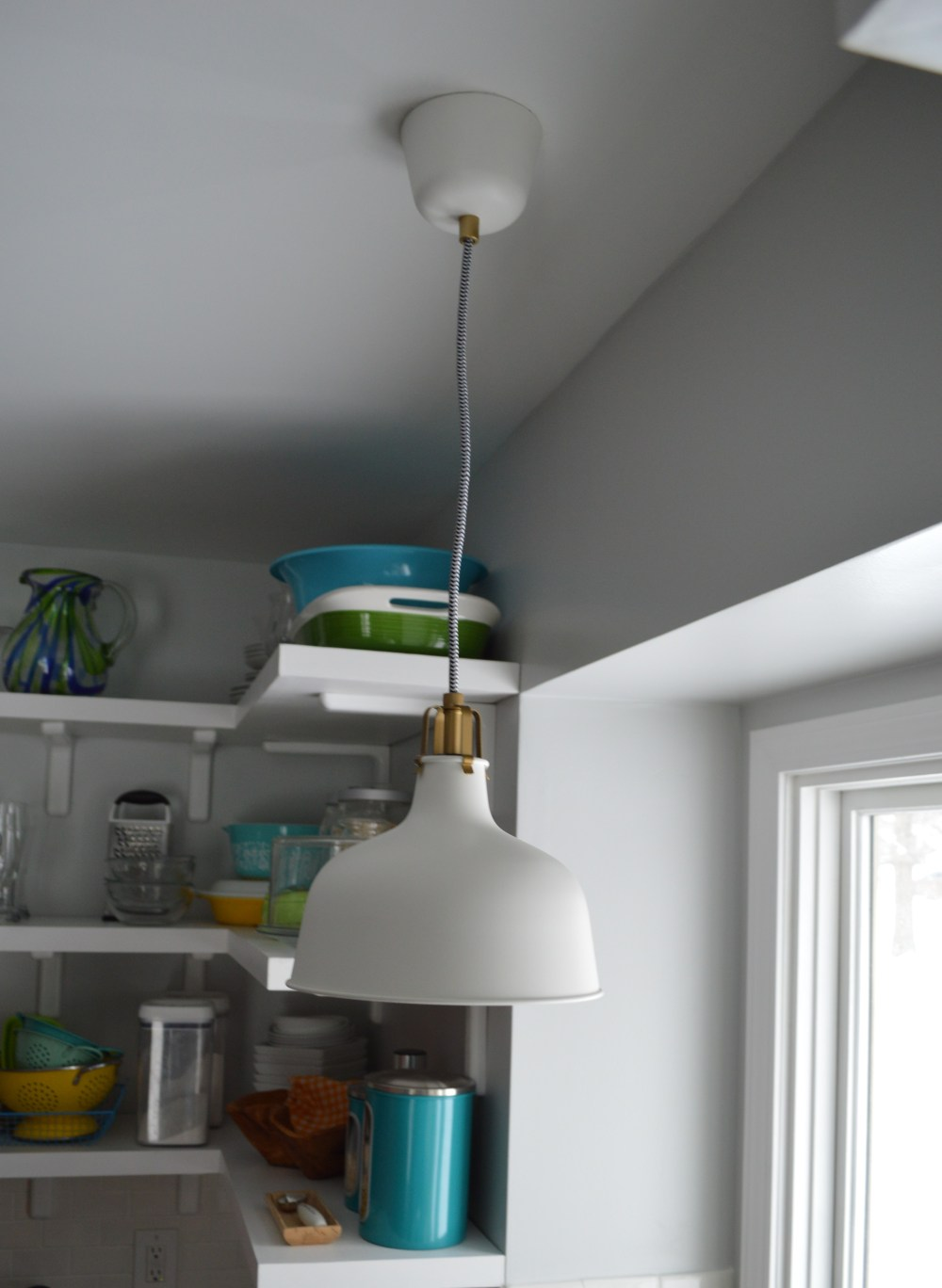 medium resolution of ikea pendant light over sink