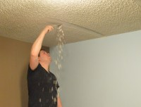 One Step Forward...More Tips for DIY Popcorn Ceiling ...