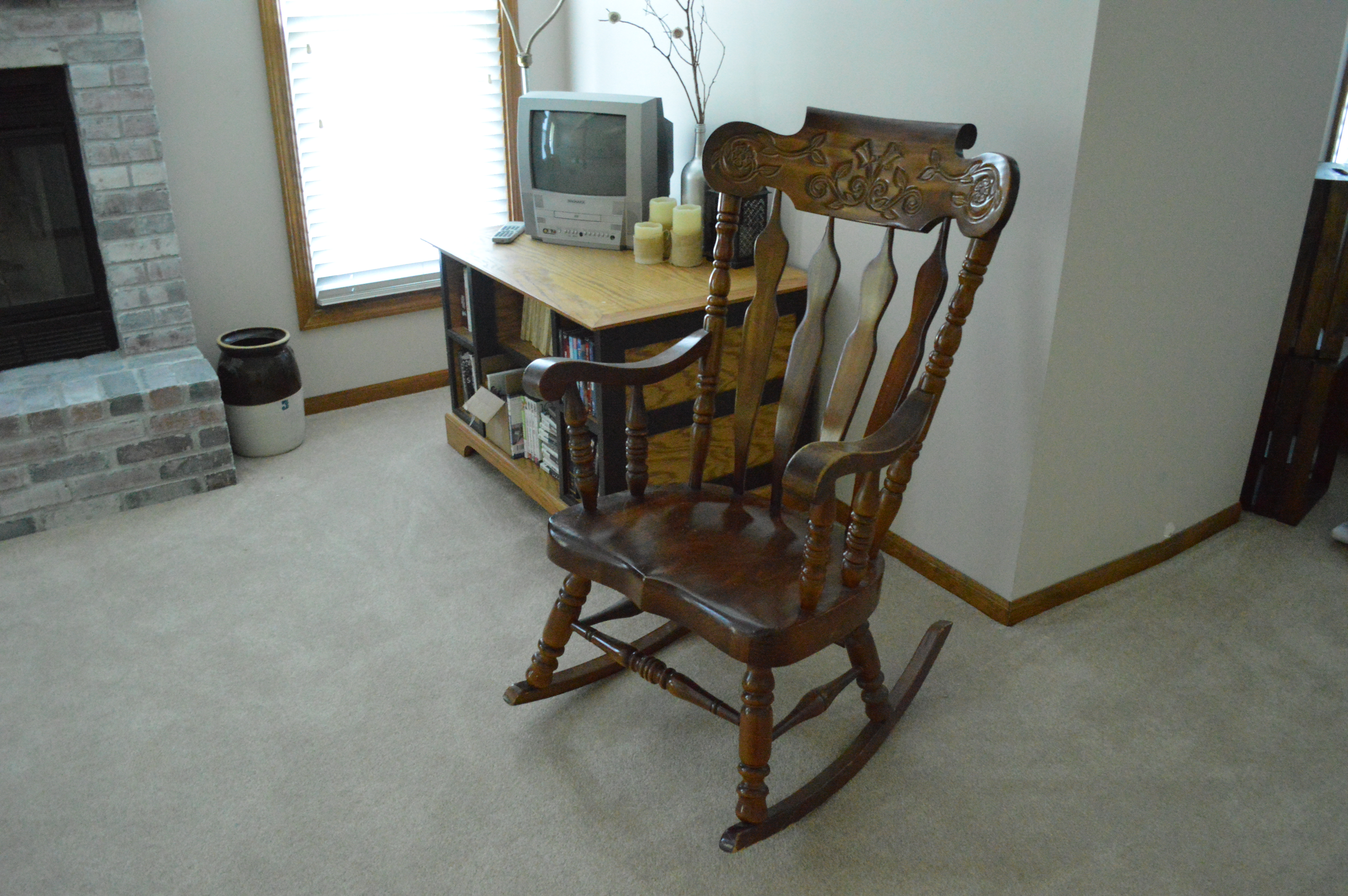 aunt priscilla has a rocking chair acrylic dining with gold legs rock bye baby loving here
