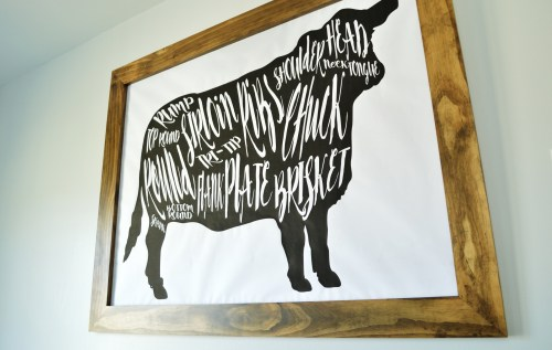 small resolution of diy cow beef butcher art print diagram 4