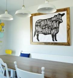 got beef a giant butcher chart art print [ 6016 x 4000 Pixel ]