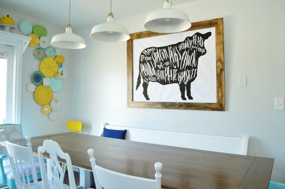 medium resolution of got beef a giant butcher chart art print