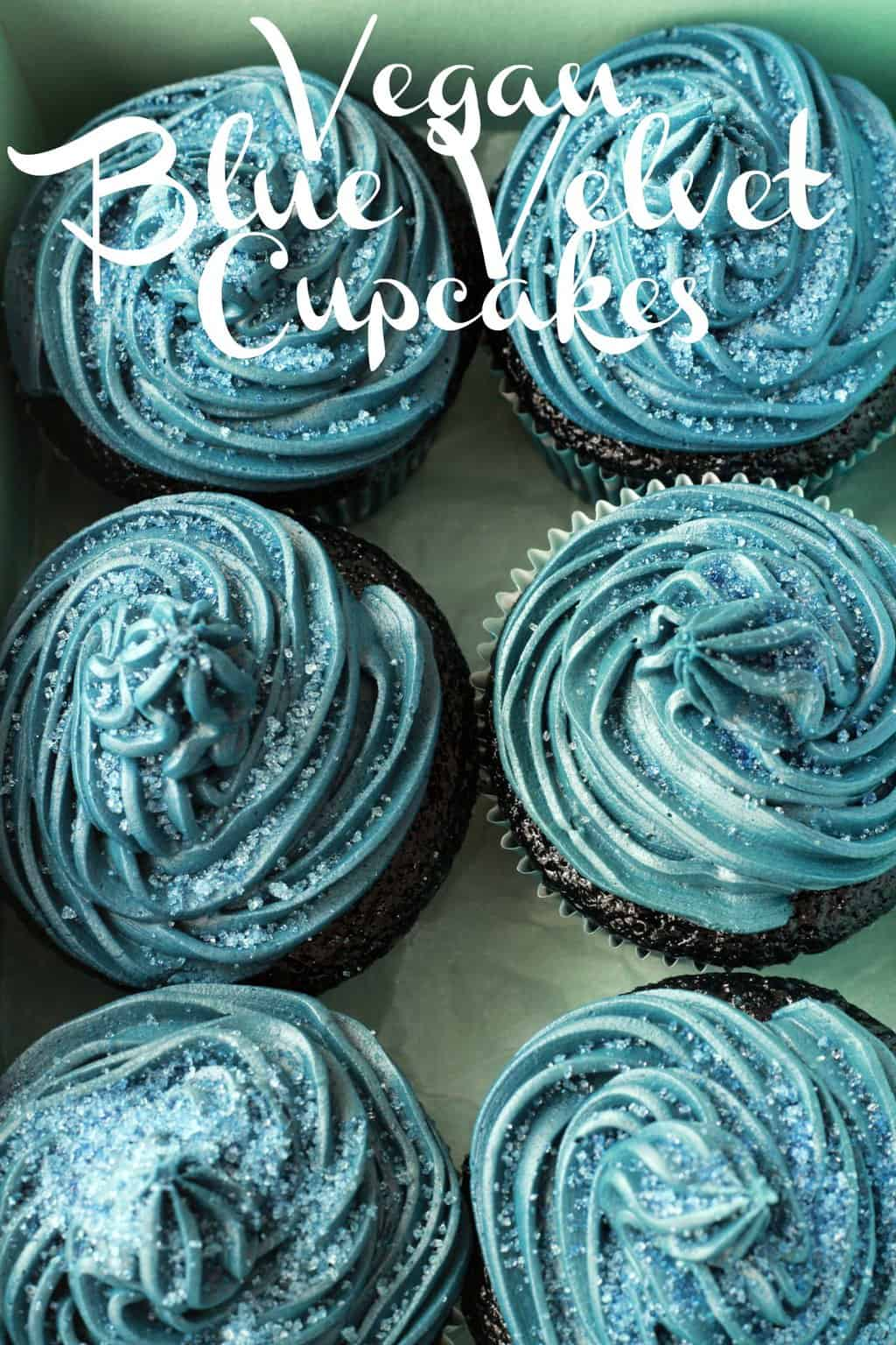 Midnight Blue Velvet Cupcakes  Loving It Vegan