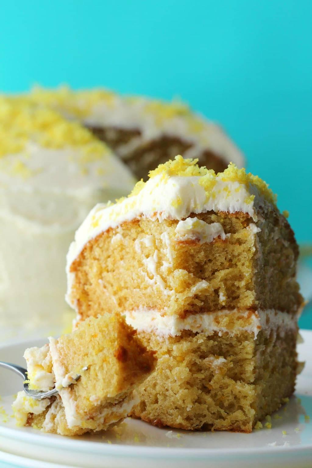 The Best Vegan Lemon Cake Loving It Vegan