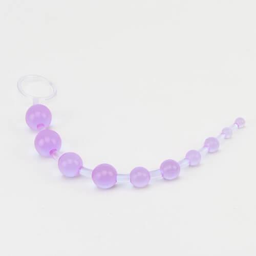 Loving Joy Purple Beginner's Anal Beads