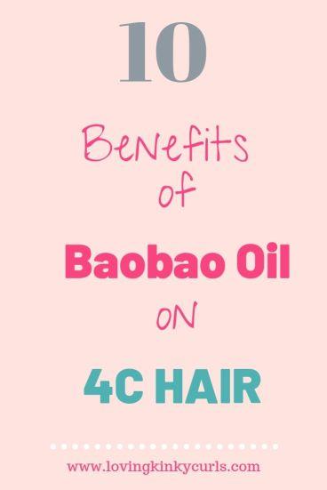 Baobab oil for 4C hair growth
