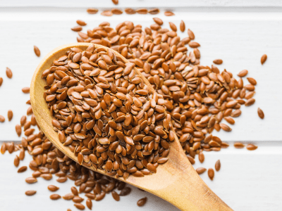 Flaxseed gel for hair growth