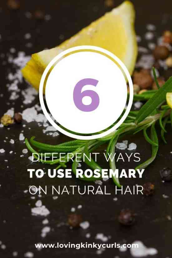 How to use rosemary oil on natural hair