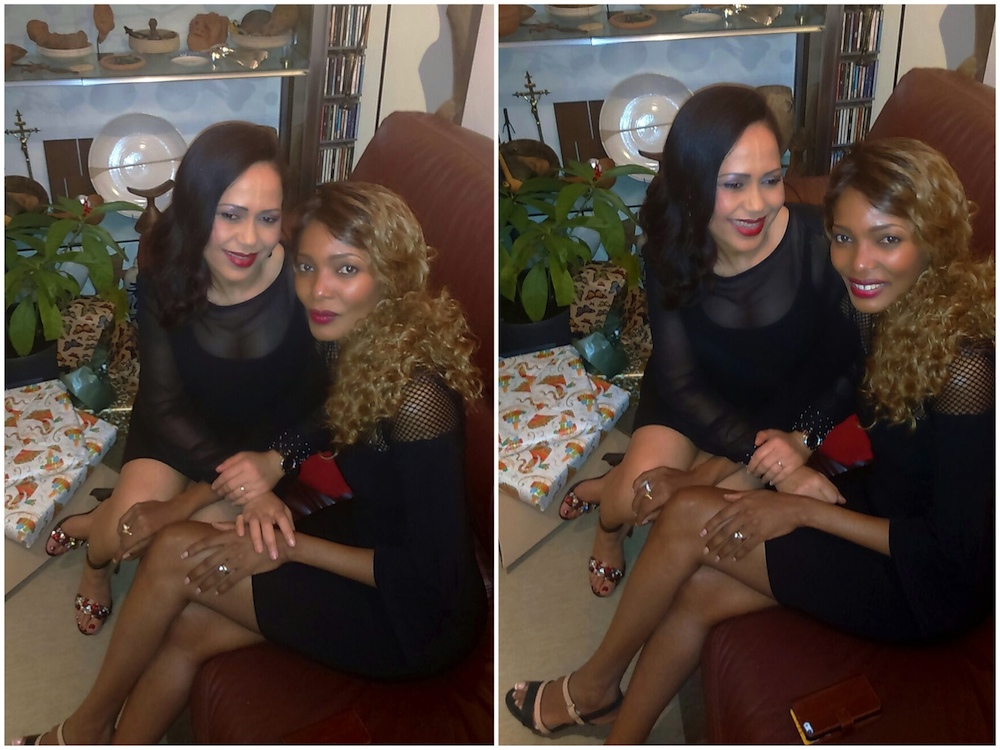 Pierrette & I at her 2015 Christmas Party