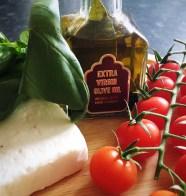 tomatoes feta basil