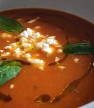 tomato basil feta soup