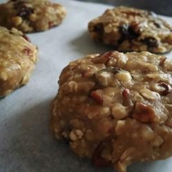 maple fruit nut cookies unbaked