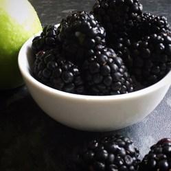 apple and blackberries